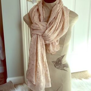 Stella & Dot Pink and Gold Westwood Scarf